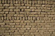 Stock Photo of adobe brick wall