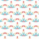 Vintage seamless pattern red and blue Stock Illustration