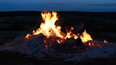 Big Fire Elements - Fire at Night Stock Footage