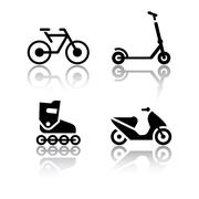 set of transport icons - extreme sports - stock illustration