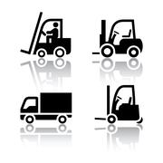 set of transport icons - loader - stock illustration