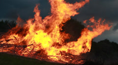 Big Fire Elements - Close Fire Burning Stock Footage