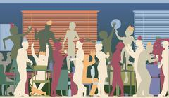 Party office Stock Illustration