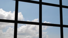4k Ultra HD time lapse video of floating clouds outside window(TL-CLOUD1-V2) Stock Footage