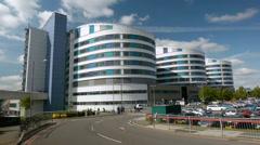 Queen Elizabeth Hospital, Birmingham. Stock Footage