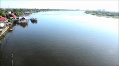 Chao Phraya River at Nonthaburi Thailand Stock Footage