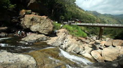 The view from the Ravana Falls in Ella, Sri Lanka. Stock Footage