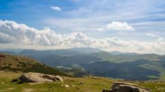 Bucegi plateau view over Padina valley Stock Footage