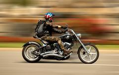 Harley-Davidson Motorcycle - stock photo