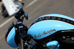 Harley-Davidson tank - stock photo