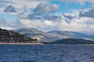 Stock Photo of croatian coastline view from the sea