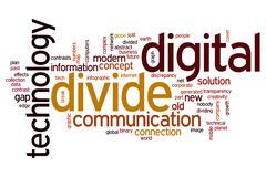 Digital divide word cloud Stock Illustration