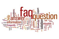 faq word cloud - stock illustration