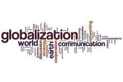 globalization word cloud - stock illustration
