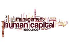 Human capital word cloud Stock Illustration