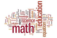 Math word cloud Stock Illustration