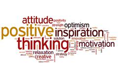 Positive thinking word cloud Stock Illustration