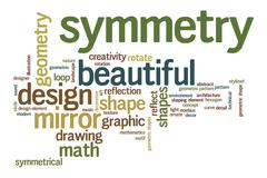 beautiful symmetry word cloud - stock illustration