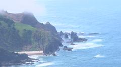 Zoom Out Beautiful Oregon Coast Stock Footage