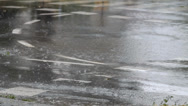 Stock Video Footage of Rain at street