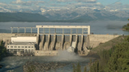Stock Video Footage of Ghost Hydro Electric Dam 01