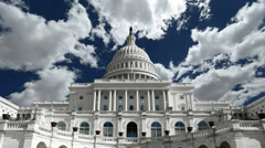 United States Capitol Building Time Lapse Stock Footage