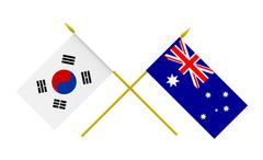 Stock Illustration of flags, australia and republic of korea