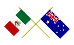 Stock Illustration of flags, mexico and australia