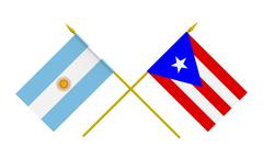 flags, argentina and puerto rico - stock illustration
