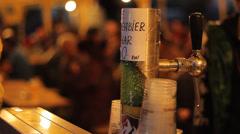 Outdoor Beer Tap Stock Footage