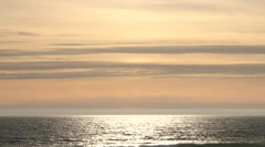 Sun Reflecting on Ocean Horizon - stock footage