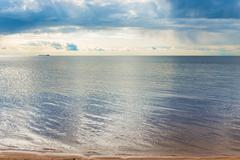 calm sea with a small ripple - stock photo