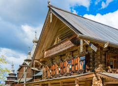 Traditional russian houses of the middle ages Stock Photos
