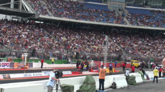 Drag Racing motor sports at Hockenheimring Stock Footage