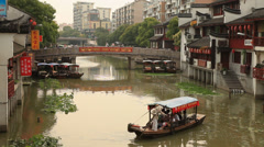 Qibao Canal 4 30 Stock Footage