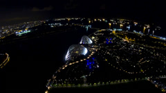 ULTRA HD 4K. SINGAPORE-MAY 2014: Time lapse view of Gardens by the Bay Stock Footage