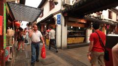 Qibao crowded market 3 30 Stock Footage