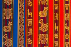 typical andean textile peru - stock photo