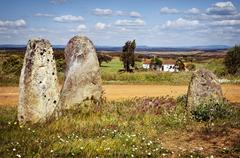 megalithic menhirs - stock photo