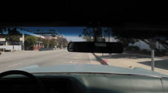 USA Los Angeles inside a 1969 Cadillac driving on the boulevard 1 Stock Footage