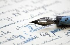 Old pen and letter Stock Photos