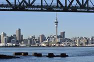 Stock Photo of auckland downtown skyline - new zealand