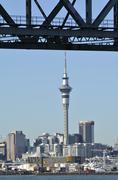 Auckland downtown skyline - new zealand Stock Photos