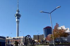 Auckland sky tower - new zealand Stock Photos