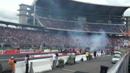 Stock Video Footage of High speed and smoke at Drag Racing motor sports at Hockenheimring