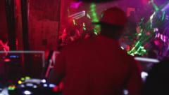 Nightlife disco dance party DJ - stock footage