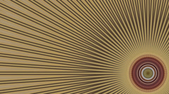 Circular kaleidoscope Radiant Stock Footage