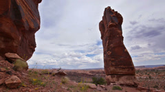 Epic Sandstone Tower in the Canyonlands Near Moab, Utah Stock Footage