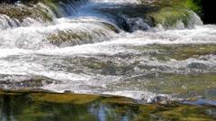 MREZ 25 Wonderful fresh water rapids waterfalls Stock Footage