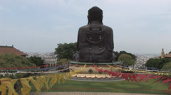 Bagua Mountain with famous Big Buddha in Taiwan Stock Footage